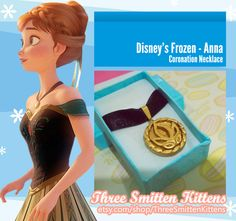 Frozen Anna's Coronation Necklace by ThreeSmittenKittens on Etsy