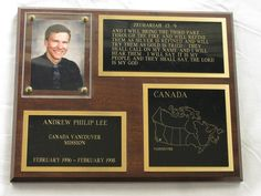 Mission Plaque - Family History in Photographs