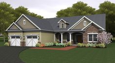 ePlans Ranch House Plan – Kitchen Is The Focal Point Of This Open Plan – 2272 Square Feet and 3 Bedrooms from ePlans – House Plan Code HWEPL76675