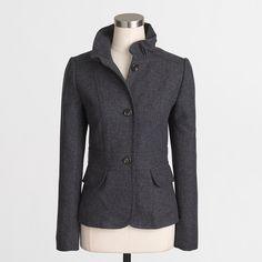 Factory tailored tweed blazer : Outerwear & Blazers | J.Crew Factory
