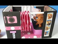 How to Make an LPS Loft Bed with Optional Slide & Desk: Doll DIY - YouTube