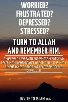 Find peace in Allah! ❤️ #Faith #Heal #Peace
