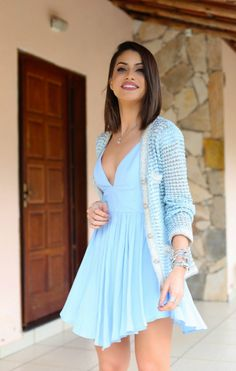 Look: Tons de Azul