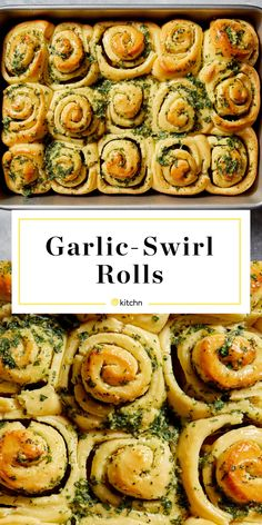 It's Official: Garlic-Swirl Rolls Are the New Garlic Knots Garlic Knots, Garlic Rolls, Pizza, Garlic Butter, Garlic Bread, Rolls Recipe, Appetizers, Appetizer Recipes, Stuffed Peppers