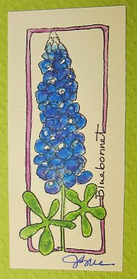 what to use to paint blue bonnets