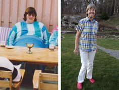 """Before and after. What a change!  Ingegerd Salomonsson has an experience that many others share: Her obesity was associated with pregnancies. When she was young she was lean, but during three pregnancies she gained a lot of weight. More than most. She ended up weighing 309 lbs (140 kg) and probably also had type 2 diabetes. She is now leading an #LCHF lifestyle.  """"I Feel Great and Strong and Life is Good"""". Click on the picture to read her story."""