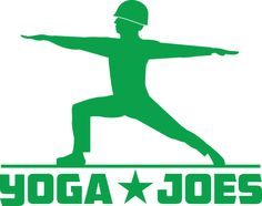 """#yogajoes Dan Abramson, San Francisco yoga enthusiast and founder of Brogamats, is raising funds through Kickstarter to bring his amusing and informational line of """"Yoga Joes"""", plastic injected green army men performing various yoga poses, to fruition. #Yoga #asana #pose #army #toys #funny #goodcause"""
