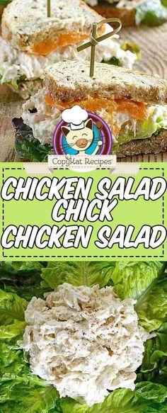 Chicke Recipes, Copykat Recipes, Yummy Chicken Recipes, Tofu Recipes, Easy Recipes, Dinner Recipes, Chicken Salad Chick Recipe Copycat, Salad Chicken, Restaurant