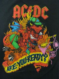 Vintage Tshirt - AC/DC - Are You Ready - 1990 Razors Edge - Tour Large RARE #vintage #tshirts #acdc | $69