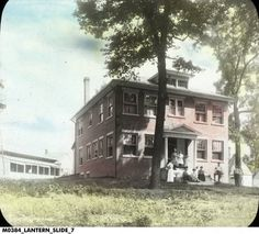 Boehne Camp Main Building with Staff  1910-1919 - TB Hospital located in Evansville, Indiana