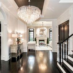 Stunning foyer By Castlewood Custom Builders Home Design, Design Salon, Design Ideas, Design Inspiration, Design Hotel, Design Design, Design Projects, Design Trends, Diy Projects