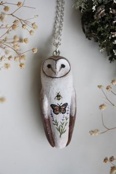gifts for her Owl Crafts, Clay Crafts, Owl Jewelry, Jewelery, Animal Jewelry, Jewelry Box, Jewelry Accessories, Ideias Diy, Paperclay