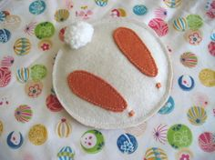 Since I'm on an itty-bitty break, I thought I'd re-post a few of my Easter projects from last year. Enjoy. I posted pre-Easter about Bunny Parts, but never updated with the completed Bunny Bean Bags that I made for Elliot's...