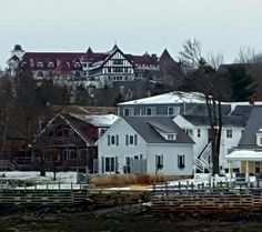 Looking toward the Algonquin Resort from the waterfront. St Andrews NB