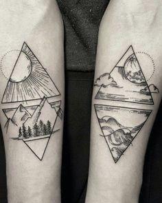 Four Elements Tattoo Designs - Tattoo Ideas & Trends Trendy Tattoos, Sexy Tattoos, Sleeve Tattoos, Tattoos For Guys, Tattoos For Women, Cool Tattoos, Tattoo Women, Sister Tattoos, Small Tattoos
