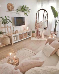 Living Room Decor Cozy, Cute Room Decor, Boho Living Room, Living Rooms, Room Ideas Bedroom, Home Decor Bedroom, Aesthetic Room Decor, Living Room Inspiration, Home Interior Design