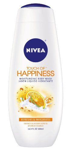 Nivea Touch Of Happiness Moisturizing Body Wash, Orange Blossom, 16.9-Ounce Bottles (Pack of 3) by NIVEA. $11.91. Moisturizing formula. Touch Of Happiness Orange Blossom Scent & Bamboo Essence by Nivea for Unisex - 16.9 oz Body Wash. Foams without pouf. Touch Of Happiness Orange Blossom Scent & Bamboo Essence by Nivea for Unisex. Gives you incredibly soft skin while cleansing very mildly. This silky cream-gel with nourishing bamboo essence gives you incredibly soft ski...