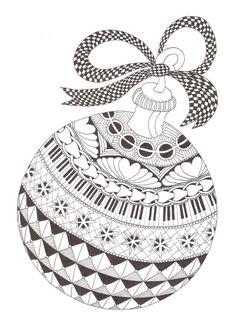 Plantillas zentangle con motivos navideños para tarjetas y regalos - Meine schöne Welt Zentangle Drawings, Doodles Zentangles, Zentangle Patterns, Christmas Doodles, Christmas Drawing, Christmas Tree Zentangle, Christmas Colors, Christmas Art, Christmas Ornaments