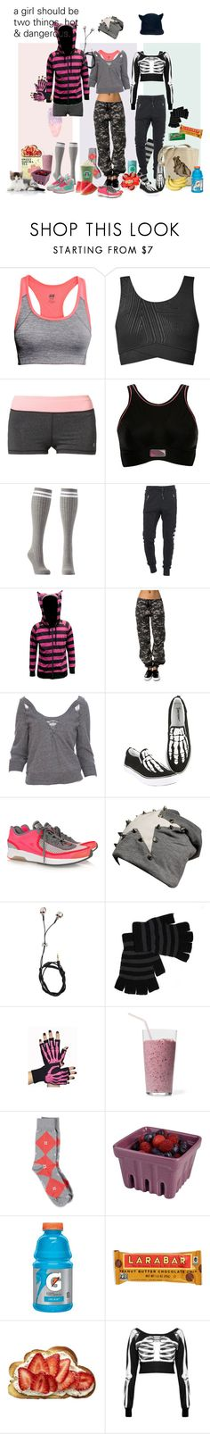 """""""Let's Go to the Gym"""" by verysmallgoddess ❤ liked on Polyvore featuring H&M, Topshop, Roxy, Charlotte Russe, True Religion, Rothco, Mike Gonzalez, Hot Topic, adidas and Givenchy"""