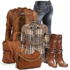Fall Weekend Away by roniylea on Polyvore featuring polyvore, fashion, style, BKE, VIPARO, Miss Me, Steve Madden and Big Buddha