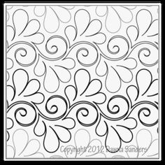 """Paper pantograph featuring a continuous line design of beautiful flowing elegant feathers. This 8"""" design is available as a single row (11"""" wide by 144"""" long) or a double row (15"""" wide by 144"""" long) to accommodate various throat sizes on your machine.   Co-designed by: Dawna Sanders and Alycia Carmin.   Check out the Digital Designs for this pantograph in digital format."""