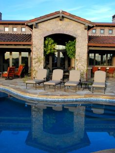 Gorgeous Spanish Colonial Home Design Ideas: Awesome Traditional Patio Design With Pool Spanish Colonial House