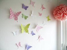 20 Butterflies 3D Butterfly Wall Art 3D by SimplyChicLily on Etsy, $36.00