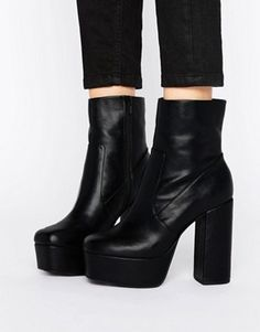 Discover the latest fashion trends with ASOS. Shop the new collection of clothing, footwear, accessories, beauty products and more. Order today from ASOS. Wedge Boots, Heeled Boots, Shoe Boots, Shoes Heels, Amo Jeans, Baskets, Black Platform Boots, Long Boots, Asos