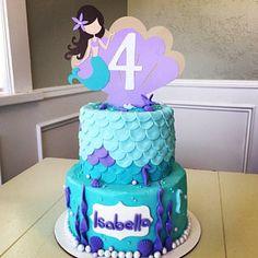 Mermaid Cake topper, Mermaid Smash Cake topper, Aqua & Lavender Mermaid - Bake a Cake 2019 2nd Birthday Party For Girl, Bday Girl, Fall Birthday, 6th Birthday Parties, First Birthday Cakes, Happy Birthday Banners, Mermaid Birthday Decorations, Mermaid Birthday Cakes, Mermaid Cakes