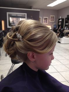 First Communion hair for Emily.  What do you think?