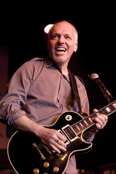 My absolute favorite~~Peter Frampton - Had to post him twice, since I've seen him with hair and without.