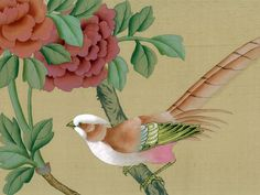 Chinoiserie Papers » Song Sassoon | Griffin & Wong | Elegance in Silk Hand Painted Wallpaper Design