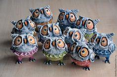 Совята и другие птицы - купить или заказать в интернет-магазине на Ярмарке Мастеров | Авторские игрушки моей подруги Нади Слуцкой -…