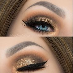 """Hey guysss! Here is a super fall glam look I did for you guys featuring @morphebrushes 35O Palette I topped it off with @lashesbylena glitter in """"Arabian Night"""" And before I go any further, I posted my first HALLOWEEN look on my snapchat: Makeupbytaren so go check it out and come back and tell me what you think. Complete details on THIS look: Brows: @anastasiabeverlyhills Brow Wiz in """"Dark Brown"""" Foundation: @katvondbeauty foundation Primer: @benefitcosmetics POREfessional Eyeshadows:"""