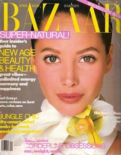 Bazaar April 1988 - Christy Turlington