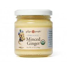 Organic Minced Ginger - ginger, sugar, rice vinegar