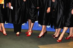 Graduation by Texarkana College, via Flickr - All nursing grads wore red shoes. So cute!