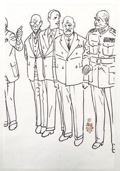 Alex Toth sketch of Generals Comic Art