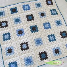 elisa design: ... beautiful baby granny--blog in German--this artist does wonderful things in crochet, many with granny squares