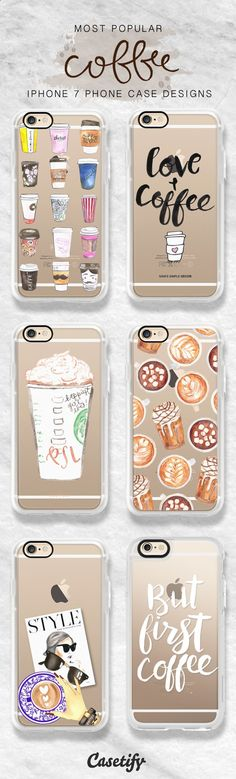 Phone Cases - Most popular iPhone 7 case designs for you coffee addicts. Shop these designs here >> www.casetify.com/...
