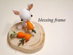 blessing frameのくいりんぐノート:うさぎとにんじん。