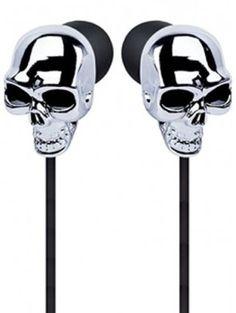skull earbuds 1 #inked #inkedshop #headphones #earbuds