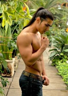 Men with long hair - I like longish hair on men, but not this long.