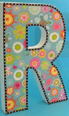 Decorative Letters - Would be cool to do this on plain wooden letters from craft store