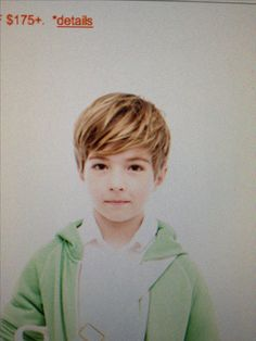 am I crazy that I love this kid's haircut??