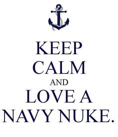 I love my Navy Nuke... I hate how over used these things are, but this one is cute! I can't help it!