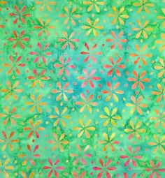 Set Flower Stamp Batik Fabric Tonga-B4880-Green Apple Fat Quarter, Half Yard or By The Yard at TCSFabrics.com Tonga Neon Collection by Timeless Treasures #TongaNeon #TongaBatiks #TimelessTreasures #BatikFabric #Batiks #Fabric #Sewing #FloralBatik #GreenBatik #Quilting