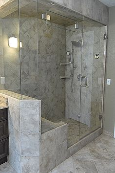 Reconfigure the Shower. Bench on End to make it wider and two shower heads.