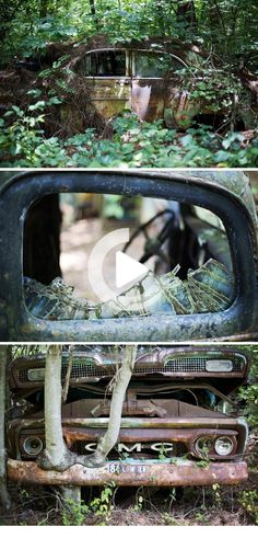 World's largest classic car junkyard is becoming part of the forest Woodsy car graveyard and museum, Old Car City, is the world's largest classic car junkyard Abandoned Cars, Abandoned Places, Man Cave Garage, Vintage Cars, Antique Cars, Rust In Peace, Rusty Cars, City Car, Modified Cars