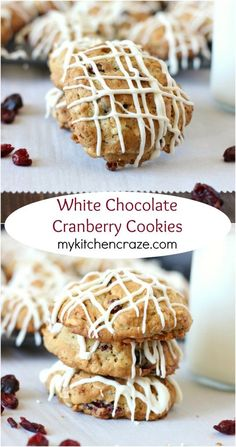 White Chocolate Cranberry Cookies ~ www.mykitchencraze.com ~ A soft ...